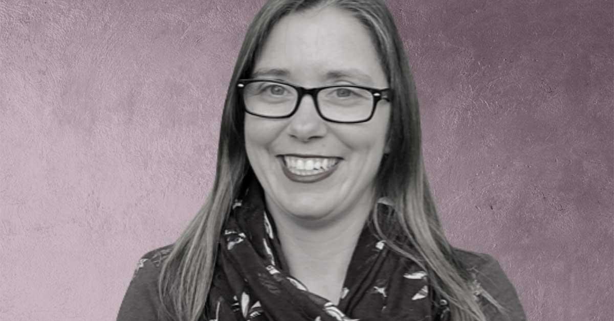 Image of Tammy Bernasky with a purple background