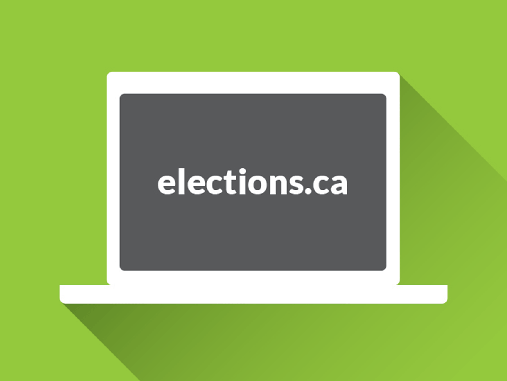 Illustration of a laptop accessing elections.ca