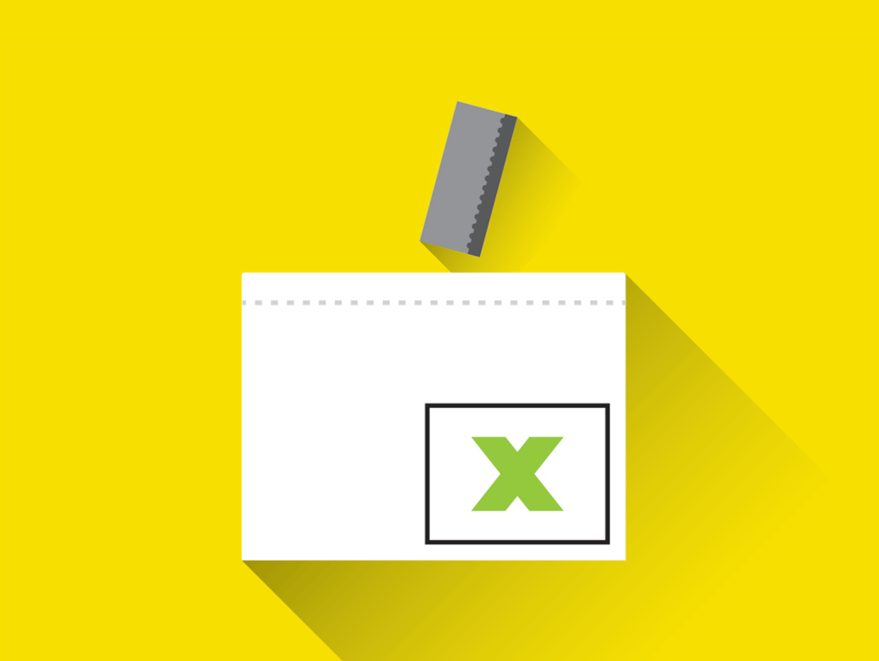 Illustration of a ballot being cast