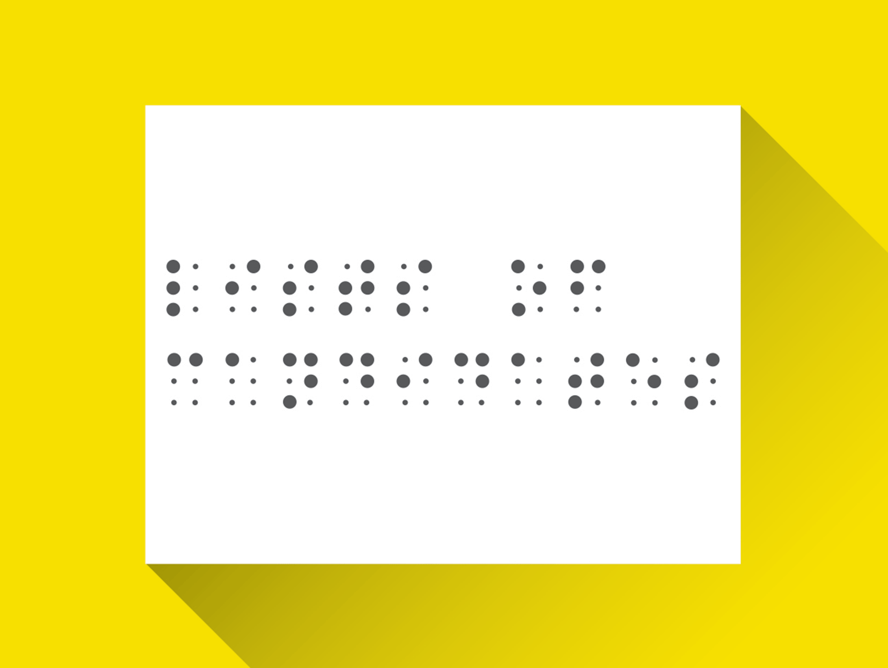 Illustration of braille list of candidates